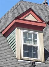 basic pedimented gable dormer