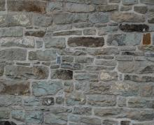 Section Rubble stone wall