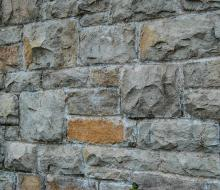 Section rusticated stone wall